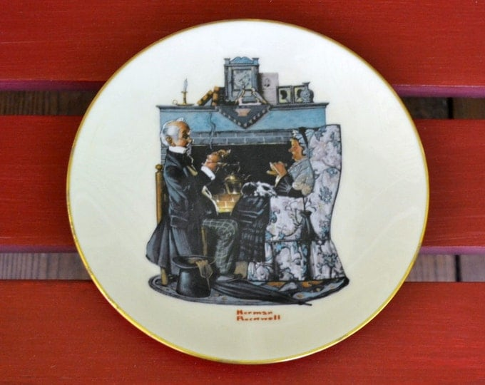 DEAL OF WEEK Collectible Gorham Norman Rockwell Plate Tea For Two 1978 Collector Plate Vintage PanchosPorch