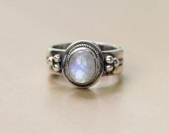 Tibetan Moonstone Ring
