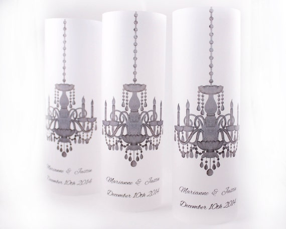 Set of 10 Chandelier Wedding Luminaries
