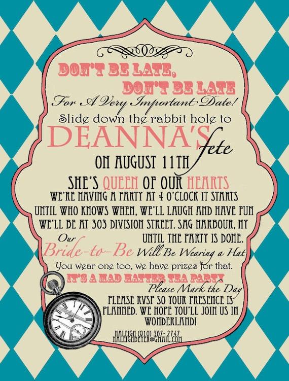 Mad hatter wedding invitations 28 images mad hatter tea bridal mad hatter wedding invitations mad hatter bridal shower invitation vintage by pegsprints mad hatter wedding filmwisefo