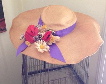 50's-60's Muriel Layson Los Angeles vintage straw hat
