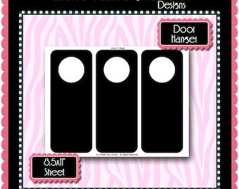 door hanger template etsy. Black Bedroom Furniture Sets. Home Design Ideas