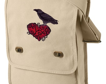 Ravenheart Canvas Embroidered Field Bag