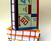 Repurposed/Upcycled Monopoly Notebook - Go
