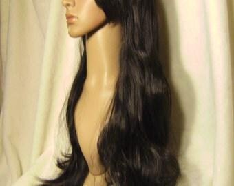Quality Kanekalon Wig - Long black curls on bottom