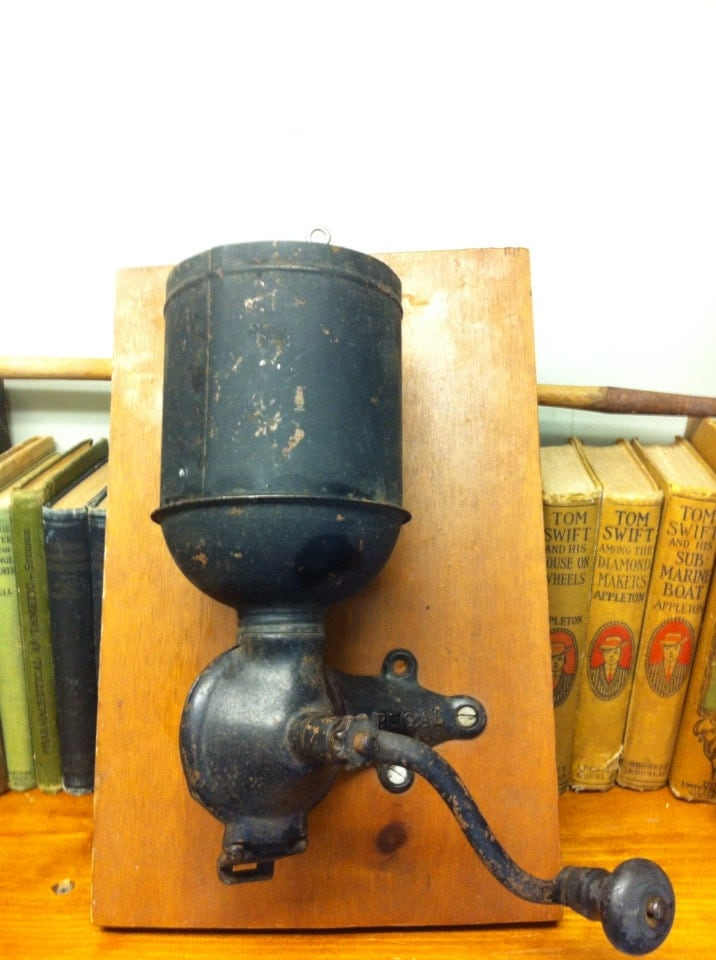 Antique Regal Coffee Grinder. Wall Mount. Beautiful Old Cast