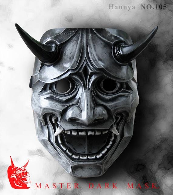 hannya mask 105 grey japanese noh style fiberglass mask. Black Bedroom Furniture Sets. Home Design Ideas