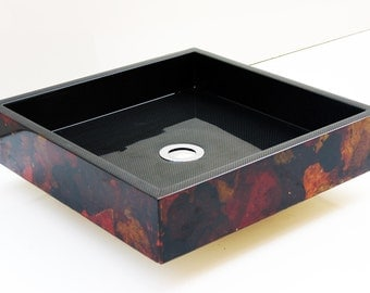 Autumn Leaves - Wooden Sink