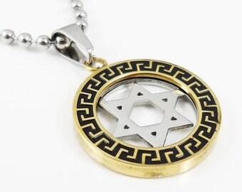 david star pendant gold or silver