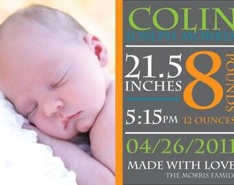 Birth Announcement (Digital Print File)