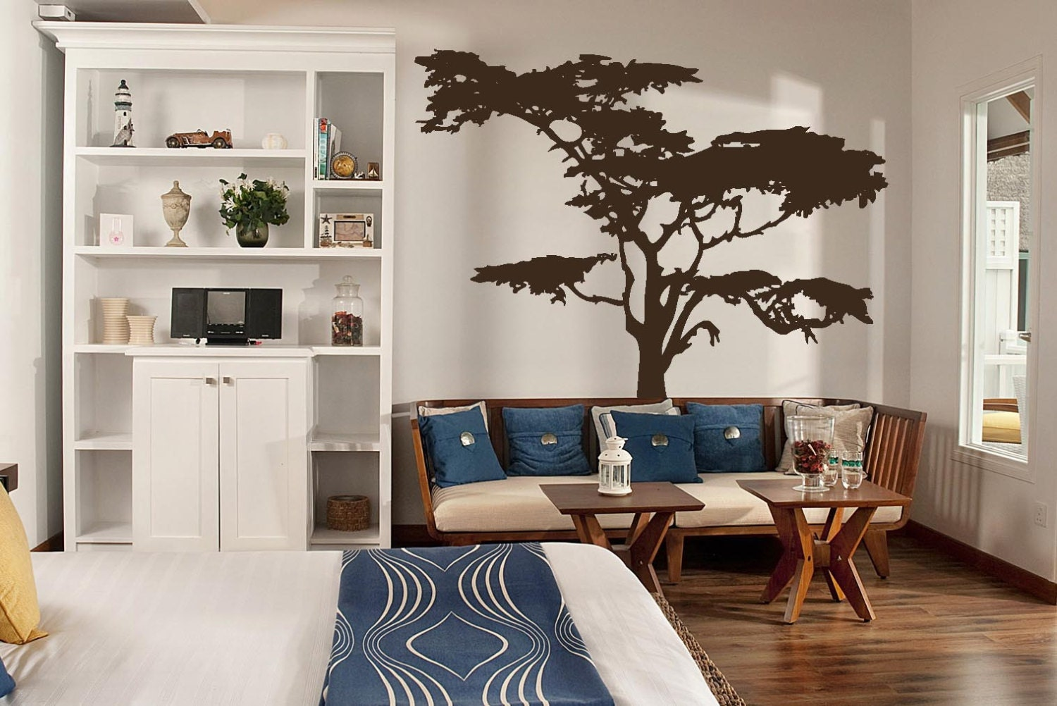 Realistic African Tree Wall Decal Headboard Wall Decal Home