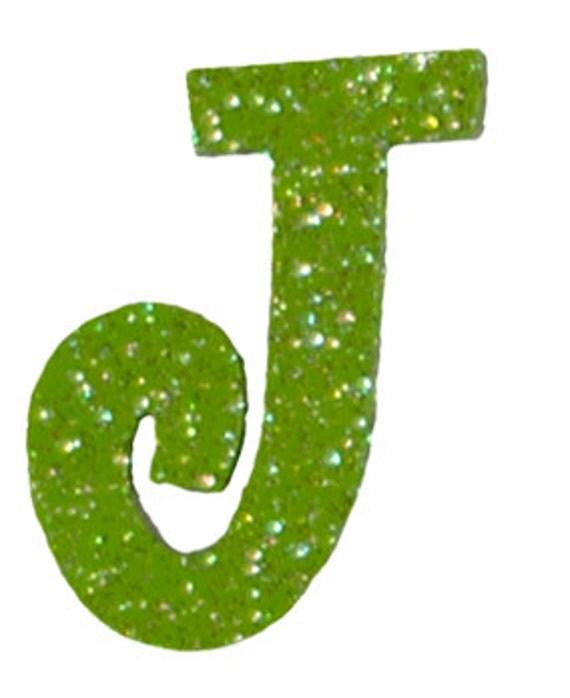 Lime Green Letter J
