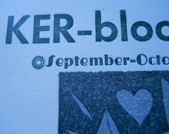 Ker-bloom letterpress zine 38