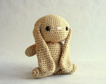 Crochet Bunny Plush Toy Cotton caramel