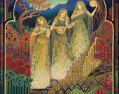 Sisters of Mercy ACEO Pagan Music Goddess Miniature Altar Art