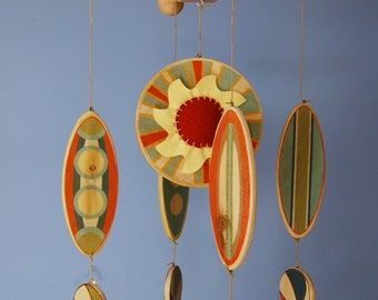 Baby Mobile - Surfboards as seen in BABYTALK Magazine - Wooden Surfboard Mobile - Beach Room Decor