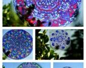 PURPLE Mandala Window Decal - Tribal Inspired Geometric Art - Choose Your Design from Purple Collection