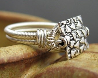 Silver Wire Wrapped Ring, Wire Wrapped Silver Jewelry, Wired Silver Ring, Silver Wire Jewelry