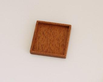 Blank tray setting fine finished hardwood - Mahogany - 35 mm cavity side - (F5-M)