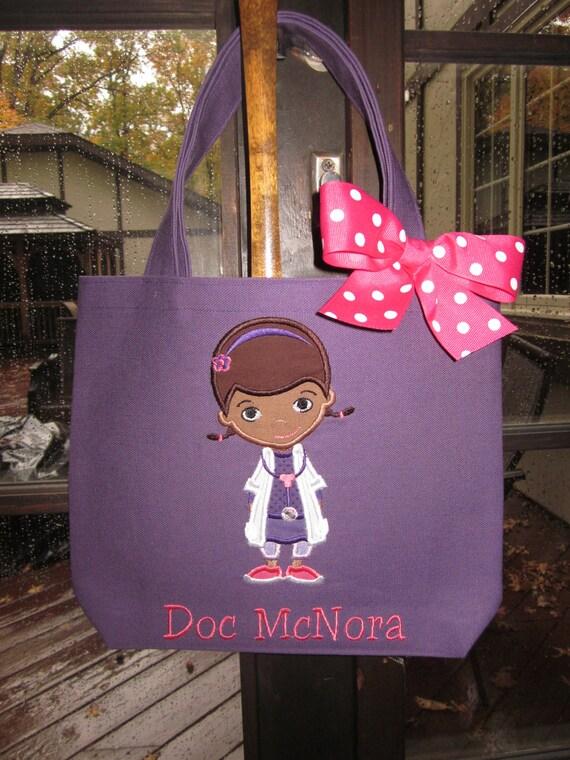 tote bag doc mcstuffins personalized toddler or big kid tote - Doc Mcstuffins Halloween Bag