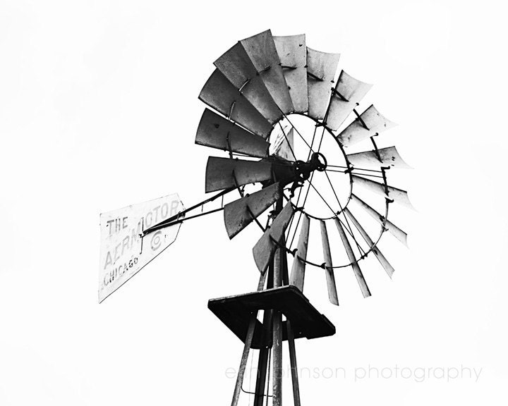 Line Drawing Windmill : Rustic windmill farm photography country photograph
