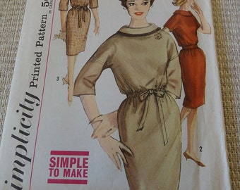 Vintage 60s Misses Slim Dress Pattern Simplicity 4070 size 12