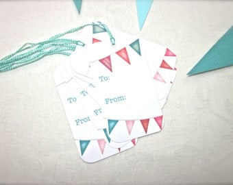 SUMMER BUNTING Gift Tags