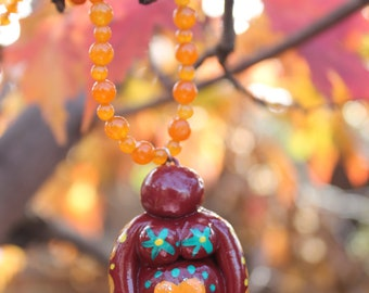 Goddess Pendant PASSION Goddess :) - FRIDA KAHLO - Gooddess Necklace