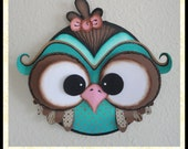 """Digital PDF 3D Scrapbooking Cardstock Paper Owl 7"""" Embroidery Hoop Plus SVG & Ping FIles Digi Stamp and Clipart"""