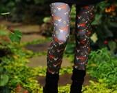 Fox print leggings digitally printed Supayana Now in POLY SPANDEX