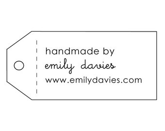 hand made tag rubber stamp