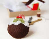 Make Your Own Christmas Pudding Keyring Decoration - Sewing Kit