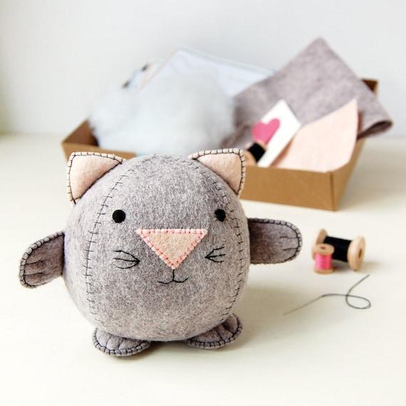 Kitten Craft Kit - Make Your Own - Children's Sewing Kit - Creative Activity Kit - Kitten Toy - Pet Animal Toy - Cat Lover