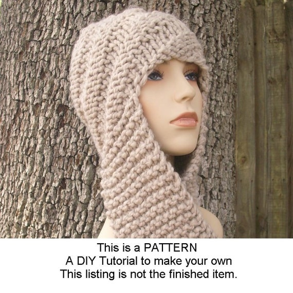 Instant Download Knitting Pattern PDF - Knitting Pattern PDF for Swirl Beanie Scarf Hat - Womens Accessories