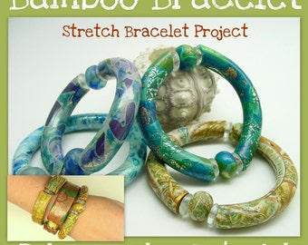 Bamboo Stretch Bracelets - Polymer Clay Tutorial - Digital PDF File - Instant Download