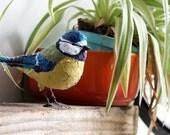 Fabric species bird- BLUE TIT