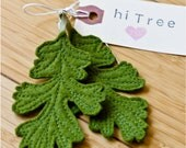 Oak Leaf Felt Earrings