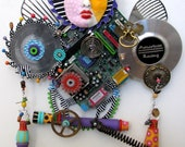 AWARD WINNER PUBLISHED  I Am A Warrior  recycled found object sculpture mixed media