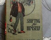 Handbound Concertina Journal or Album from vintage Horatio Alger SHIFTING FOR HIMSELF
