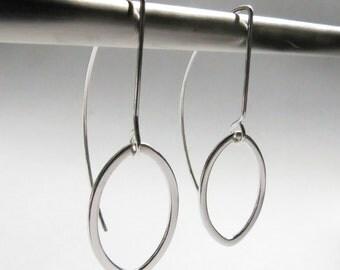 Sterling Silver Leaf Silhouette Drop Delicate Lightweight Earrings. Delicate Drop Earrings. Silver Drop Earrings.