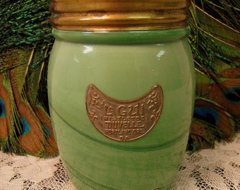 1920s Duvelle Le Gui Mistletoe Sachet Glass Perfume Powder Jar Full Portland