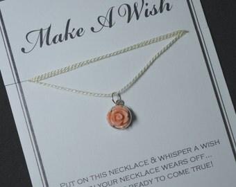 Peach Flower Wish Necklace
