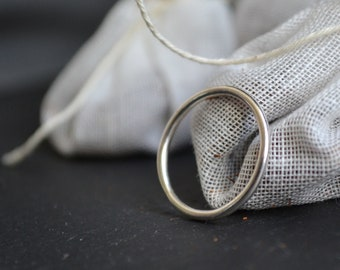 Minimal sterling silver band