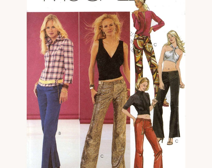 Low rise pants sewing pattern McCalls 3348 Womens UNCUT SZ 4 to 10