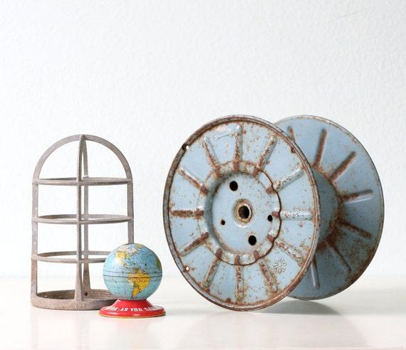 RESERVED Vintage Industrial Spool