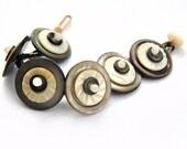 Sale - Button Bracelet - Pearl Button Jewelry - Moonstone Pearl