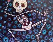 Rhythm Was a Dancer (1) Original Acrylic Painting on Masonite