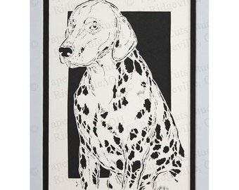 Dalmation Papercutting- Handcut Original