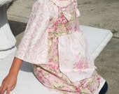 Shabby Chic Girls Knot Dress Tea Party Apron Sizes 2 3 4 5 6 7 8 - Amievoltaire