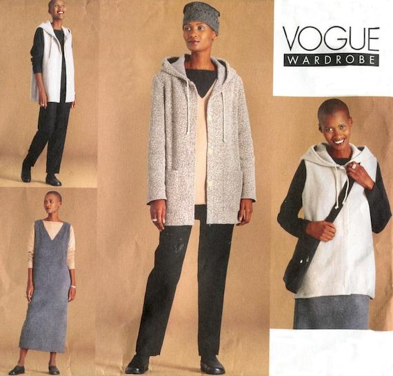 Vogue 2327 Fall Wardrobe Pattern - Hooded Jacket / Vest / Jumper / Tunic / Top / Skirt / Pants - Size 12-14-16 - Uncut